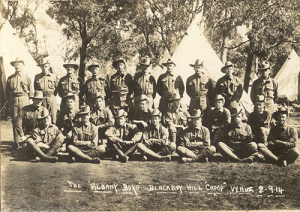 'Scotty' Lumsden front row second from the right