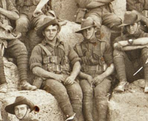 Adcock brothers in the 11th Battalion Cheops Pyramid photo ID#'s 341 & 343