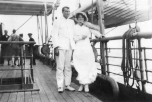Harvey & Nettie Rae on their honeymoon