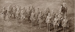 11th Battalion stretcher bearers in training prior to leaving Blackboy Hill c.a. Sept 1914