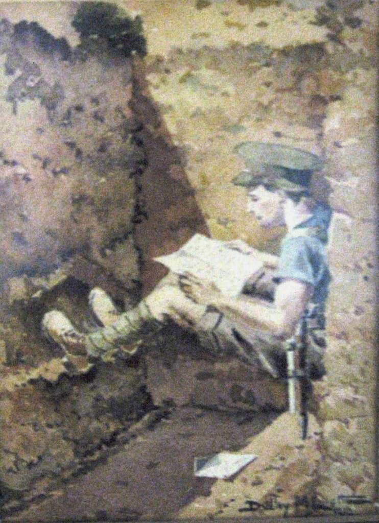 Elliott Dudley - Soldier reading