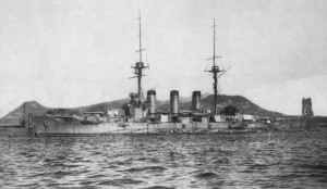 Japanese Battle Cruiser Ibuki ca 1910 - per Wikimedia commons