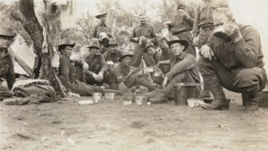Cpl TS Louch (sitting in centre) and his Section in camp at Blackboy Hill c.a. September 1914 - ex slwa BA78028