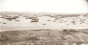 Ships of the MEF in Mudros Harbour April 1915 - per AWM G00547