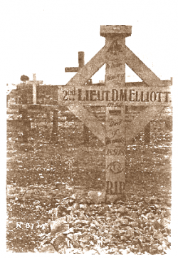 Gravesite of 2/Lt Dudley Marwood Elliott